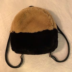 Do Everything in Love Faux Fur Backpack Purse